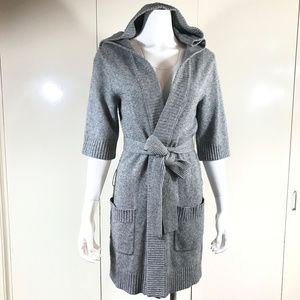 Lamb wool Hooded cardigan
